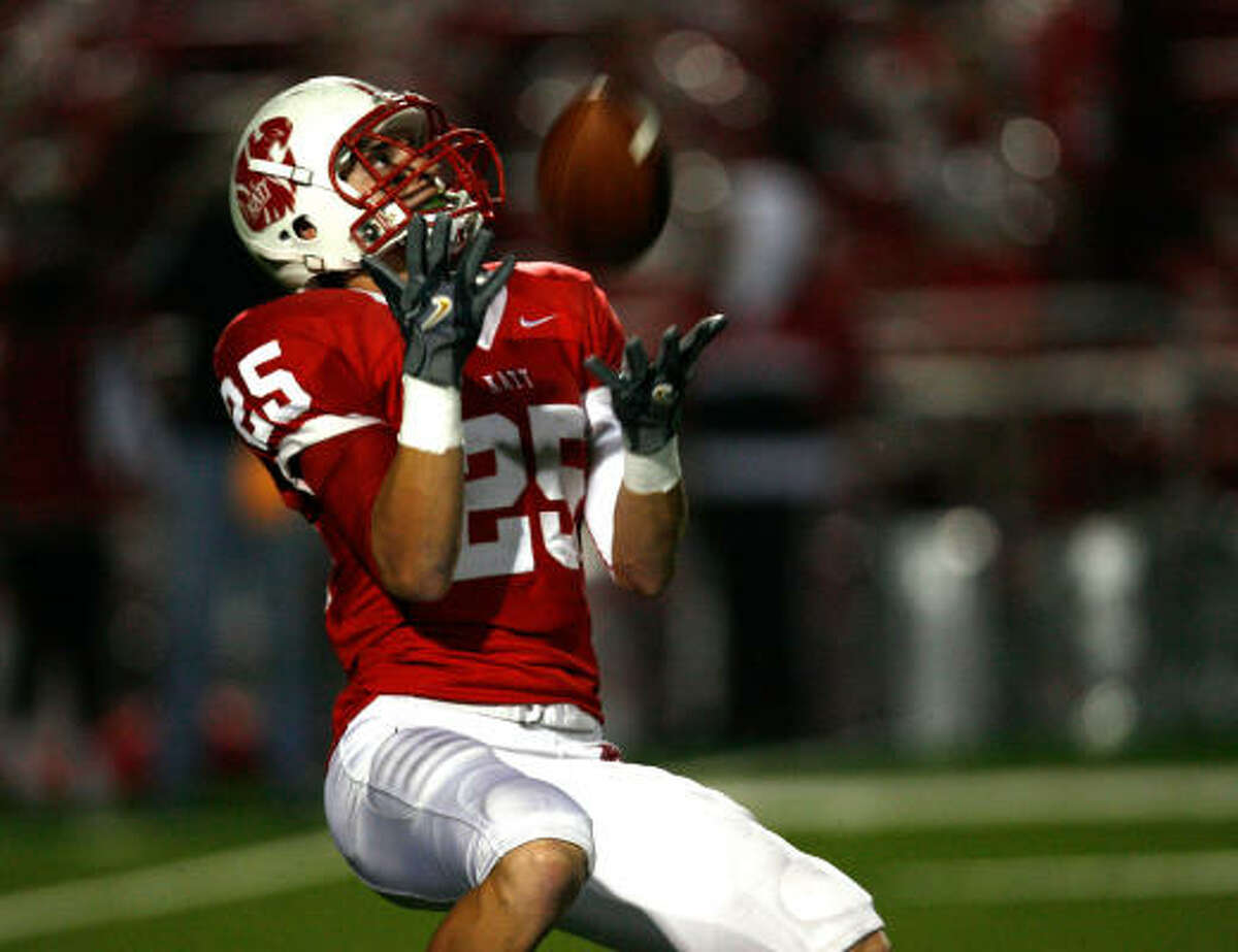 Sam Holl, DB, Katy The defending Class 5A Division II champions open the season against North Shore, which has a state-record 78-game regular season win streak. The Tigers return six starters on defense, including Holl.