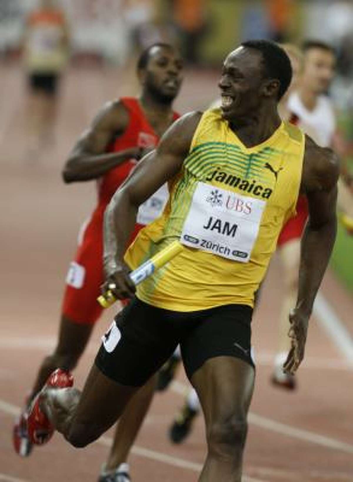 Usain Bolt got another win in the 4x100 relay.