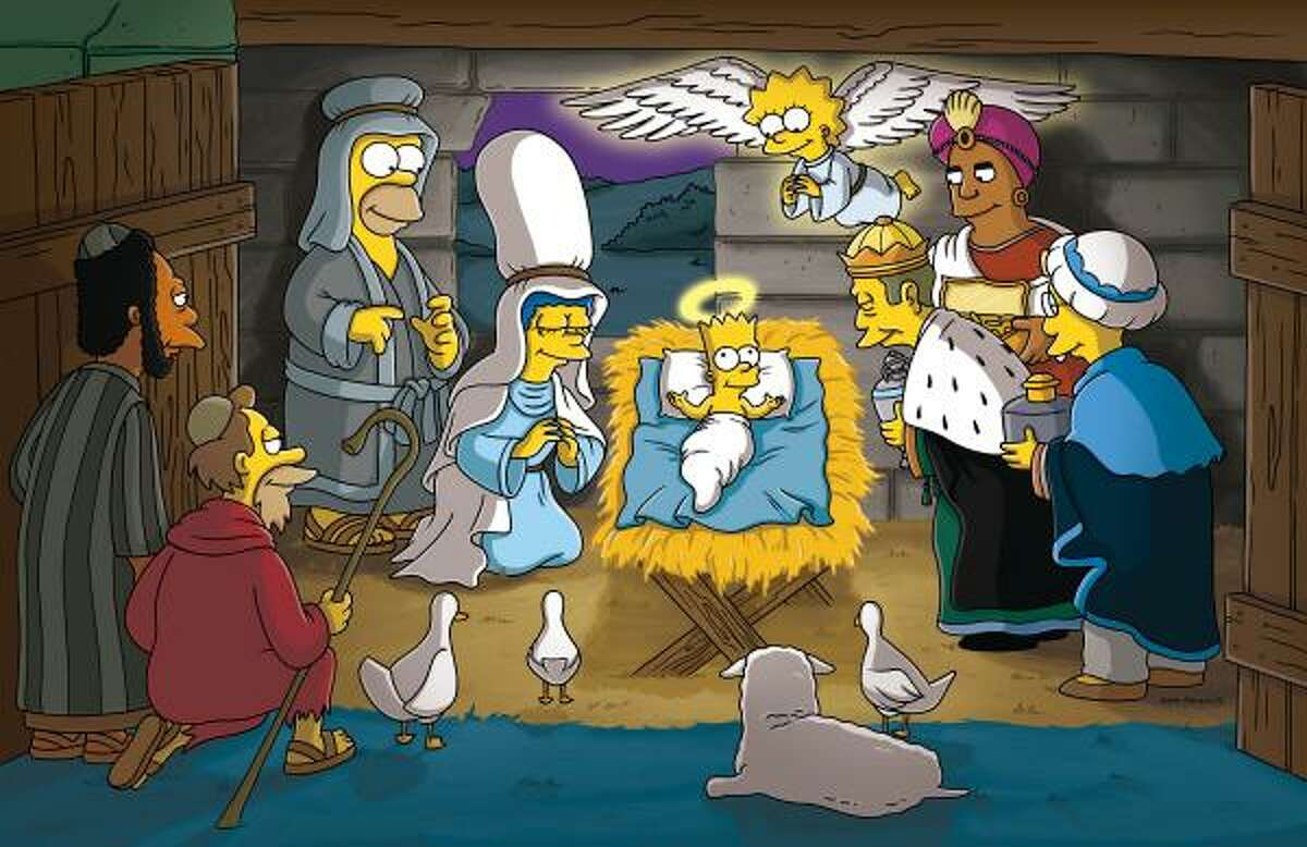 The Simpsons Featuring the family who's always going to church together