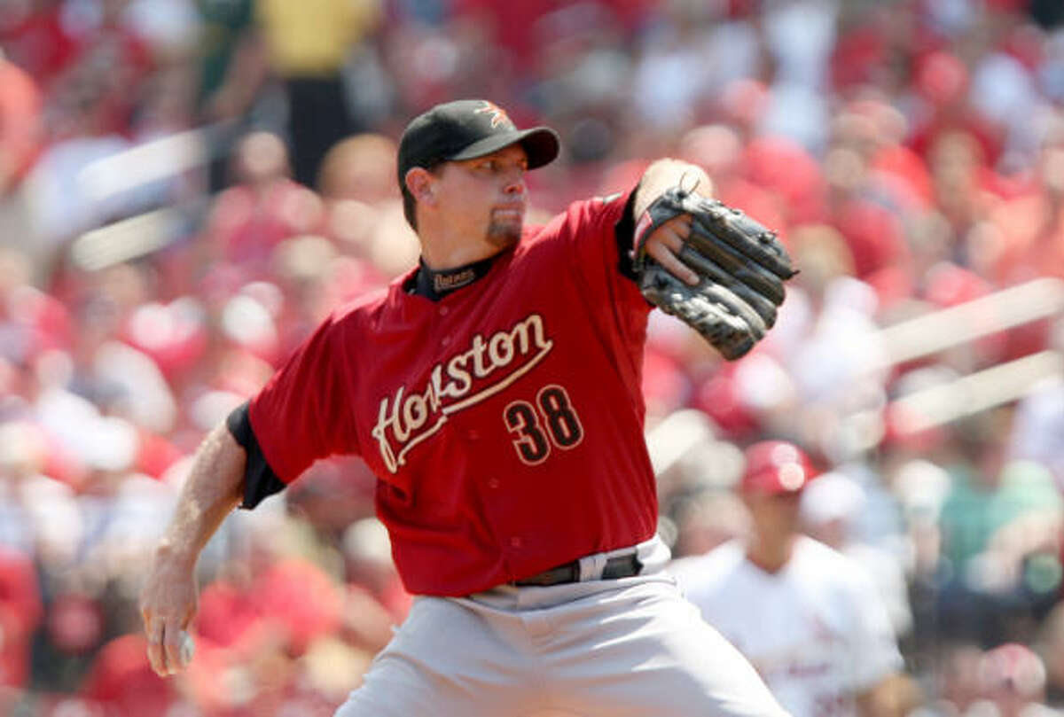 Astros starter Brian Moehler gave up three runs in six innings against the Cardinals.