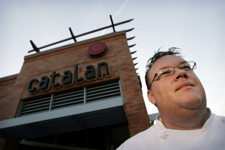 Chef Chris Shepherd stands outside his restaurant Catalan where the Pork Belly Throwdown was recently held. Read more about the competition here. Photo: Eric Kayne, Houston Chronicle