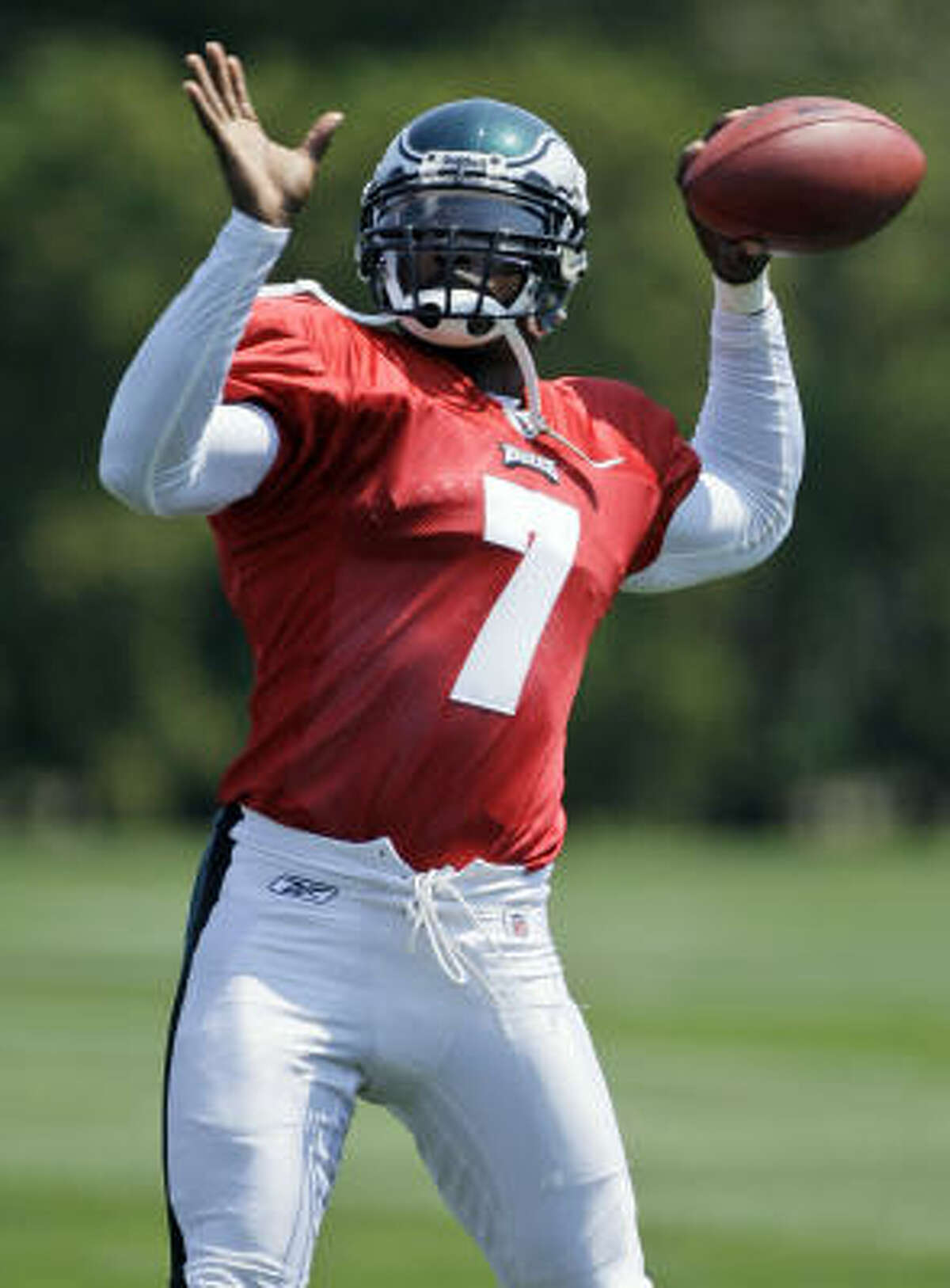 Michael Vick is back in the NFL as he gets another chance to play. Vick has to serve a six regular season games suspension before he gets a shot under center for the Philadelphia Eagles.