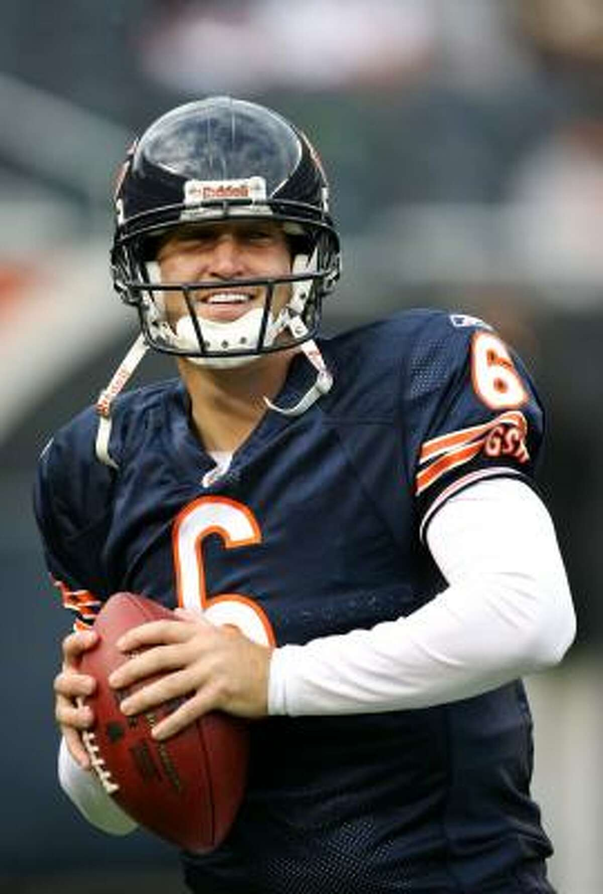 Jay Cutler requested a trade during the offseason and landed in Chicago to be the Bears' new QB this season.