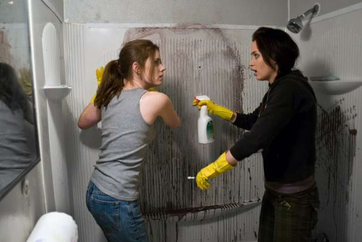 Amy Adams, left, and Emily Blunt are shown in a scene from Sunshine Cleaning. Read the review here.