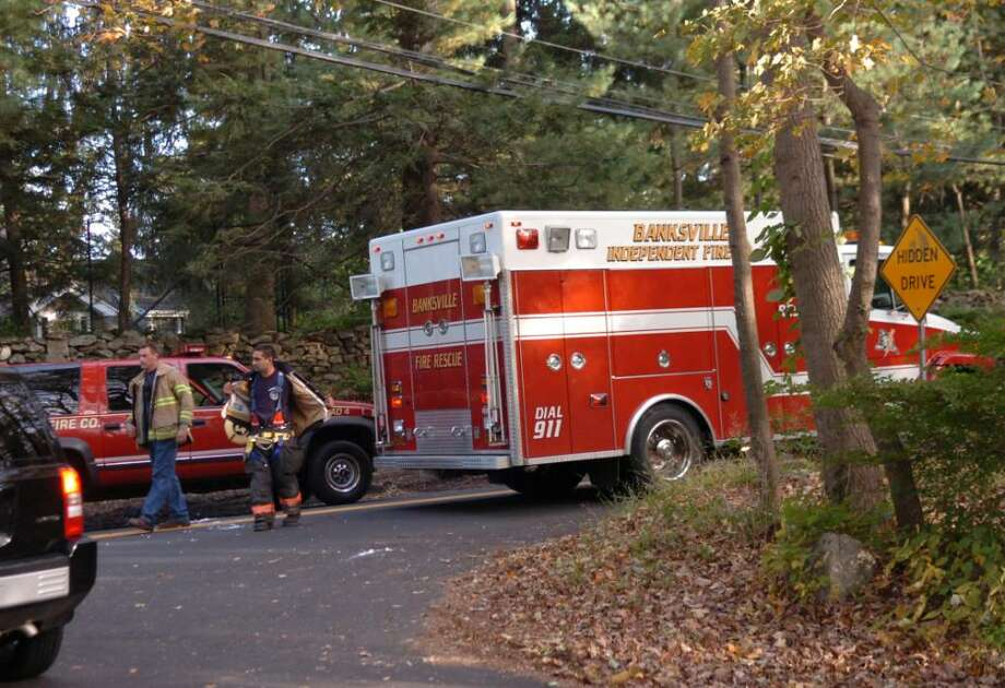 Greenwich, Oct. 8, 2009.  The fatal accident between a motorcycle and a vehicle was on  Riversville Road which was closed at Hycliff Road. Photo: Helen Neafsey / Greenwich Time