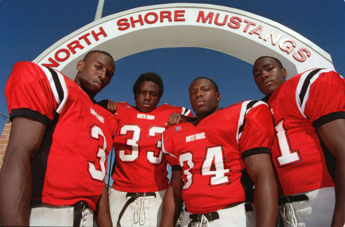 2001 Chad McCullar, left, Harrell Ester, Kevin Moore and Willie Gaston helped make the North Shore Mustangs No. 1 in the state .