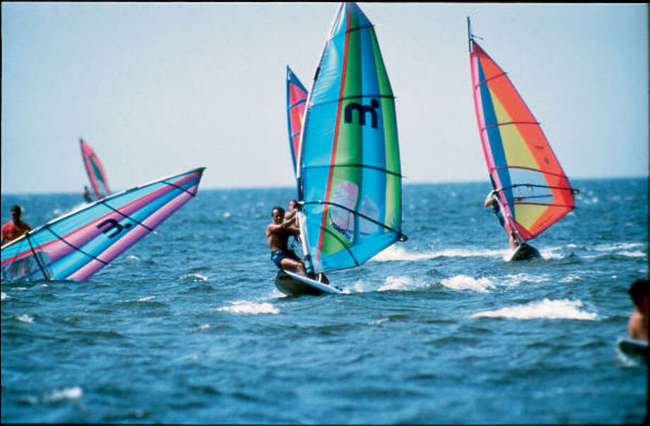 Windsurfing is just one of the popular watersports visitors can dive into on the Outer Banks. Photo: Outer Banks Visitors Bureau