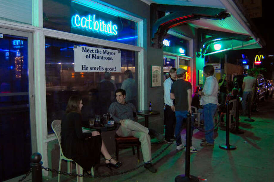 A night on the town doesn't mean you have to get dressed up in your best duds. Take a look at the top dive bars around town.Catbirds LoungeLocation: 1336 Westheimer Rd, Houston, TX 77006Phone:(713) 523-8000Hours:Monday-Friday: 3PM-2AMBonus:Happy hour every day from 3PM-8PM.Information current as of May 13, 2014. Photo: Tre' Ridings, For The Chronicle