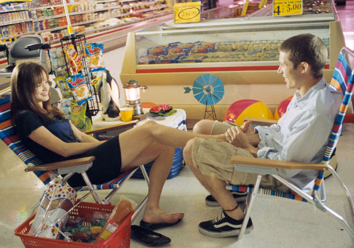Alexis Bledel, left, and Zach Gilford a scene from