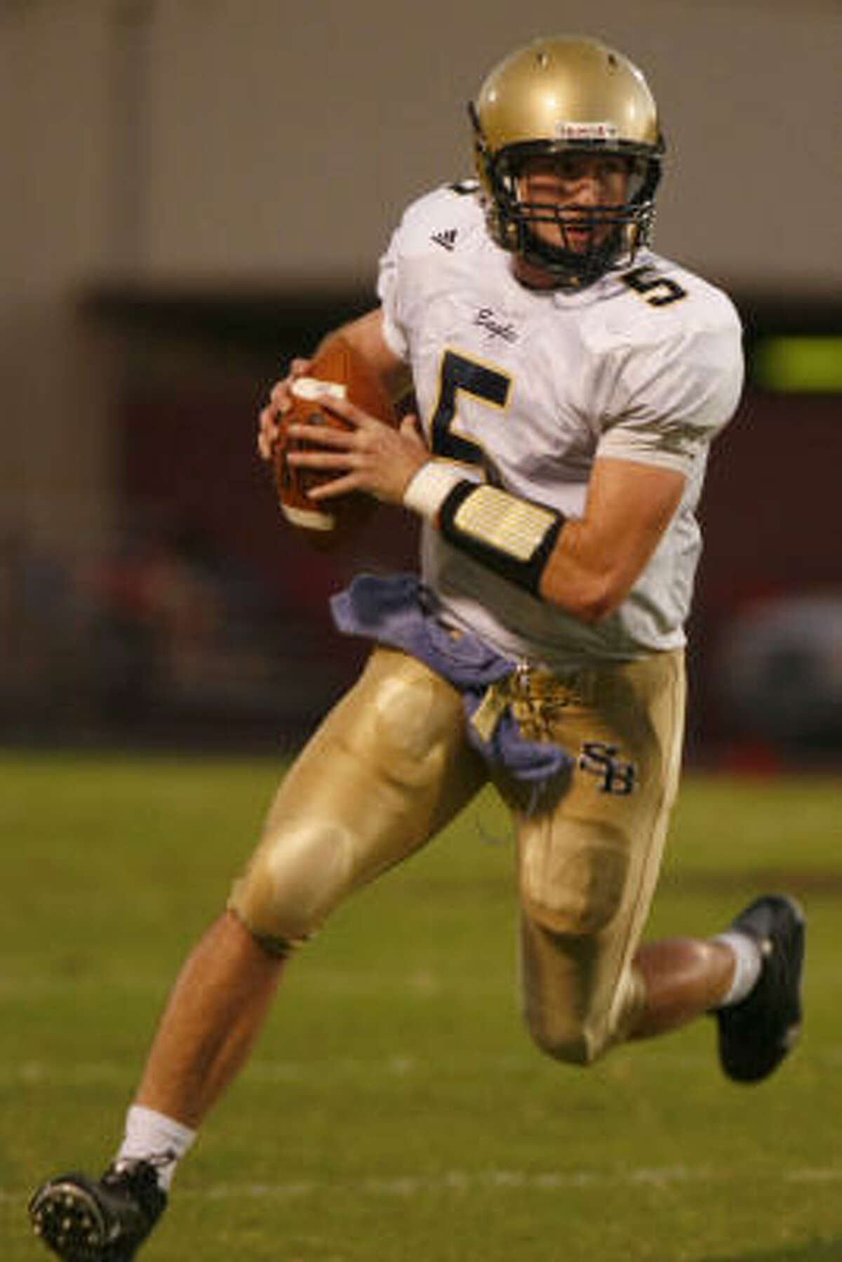 Private schools Connor Wood, Sr., QB, Second Baptist The future Texas Longhorn threw for more than 2,200 yards and 20 TDs in 2008.