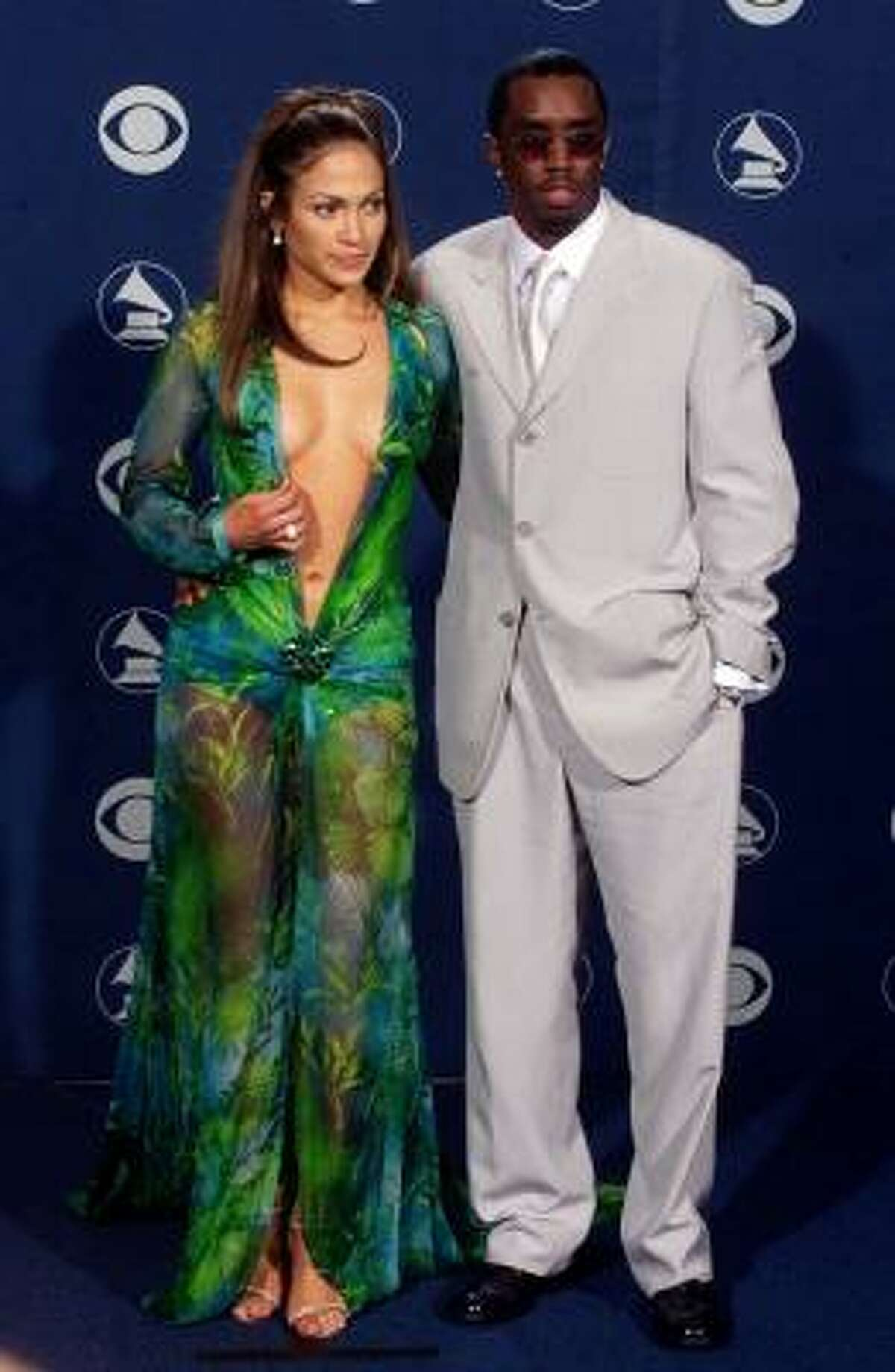 Jennifer Lopez wearing the infamous Versace dress in 2000. Double-sided tape, sold online and in stores, can be a simple solution to strapless dresses and falling hems.