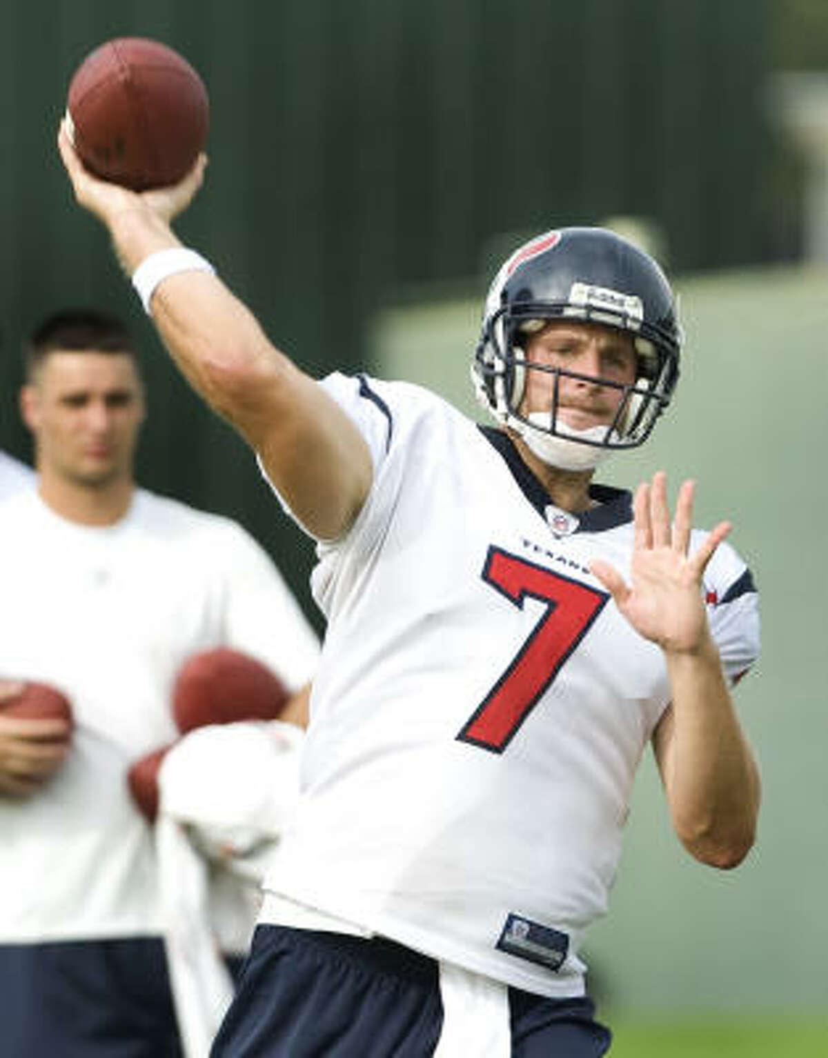 Backup quarterback Dan Orlovsky wears No. 7 to honor Hall of Fame quarterback John Elway. More on Texans numbers.