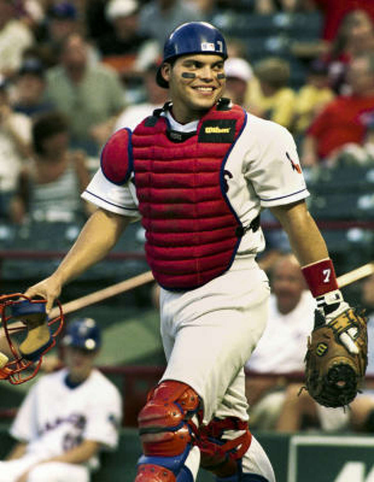 Catcher: Ivan Rodriguez A 13-time Gold Glove recipient, Pudge won 10 of those awards consecutively for Texas from 1992-2001 and was the American League's Most Valuable Player in 1999, when he hit .332 with 35 homers and 113 RBIs. During a 93-game stint with the Astros in 2009, Rodriguez hit his 300th career home run.