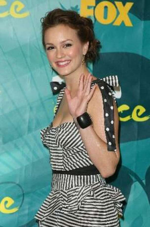 Actress Leighton Meester at the 2009 Teen Choice Awards.