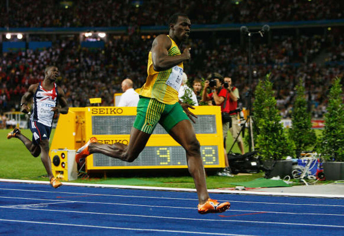 Usain Bolt: The fastest man in the world Usain Bolt of Jamaica set a new world record of 9.58 seconds after winning the men's 100m final race in the 2009 IAAF Athletics World Championships in Berlin.