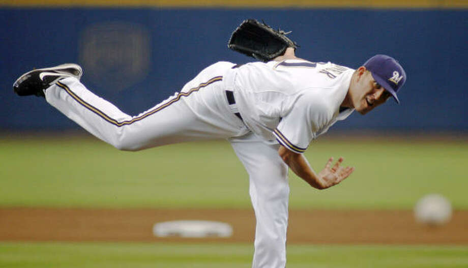 Braden Looper started for the Brewers. Photo: Darren Hauck, AP