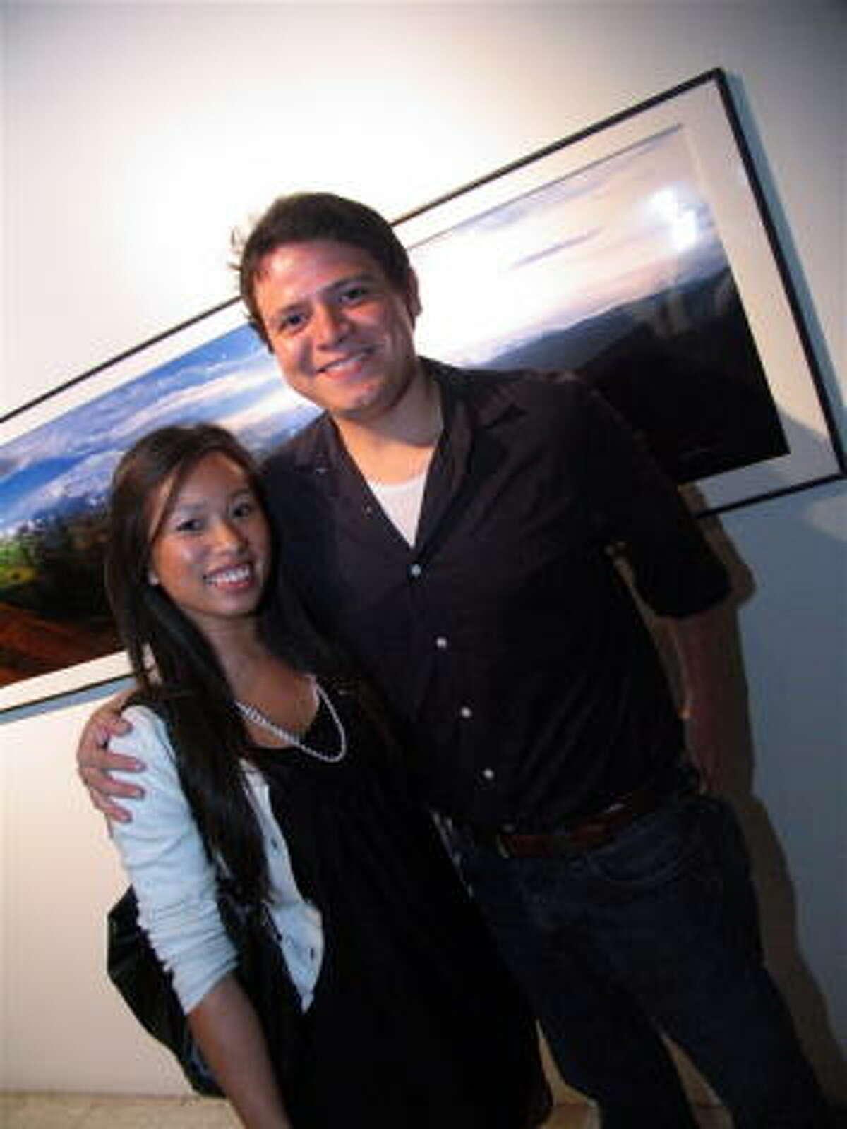 Sophia Hak, left, and Sal Flores