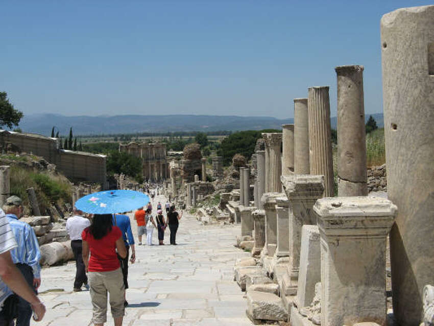 A scene of the ruins at Ephesus.
