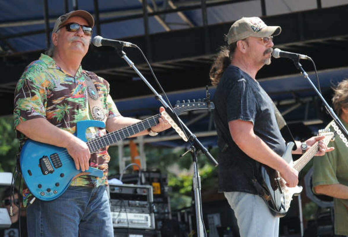 The Bellamy Brothers perform at the 17th Annual Country Thunder USA music festival on July 16, in Twin Lakes, Wisconsin.