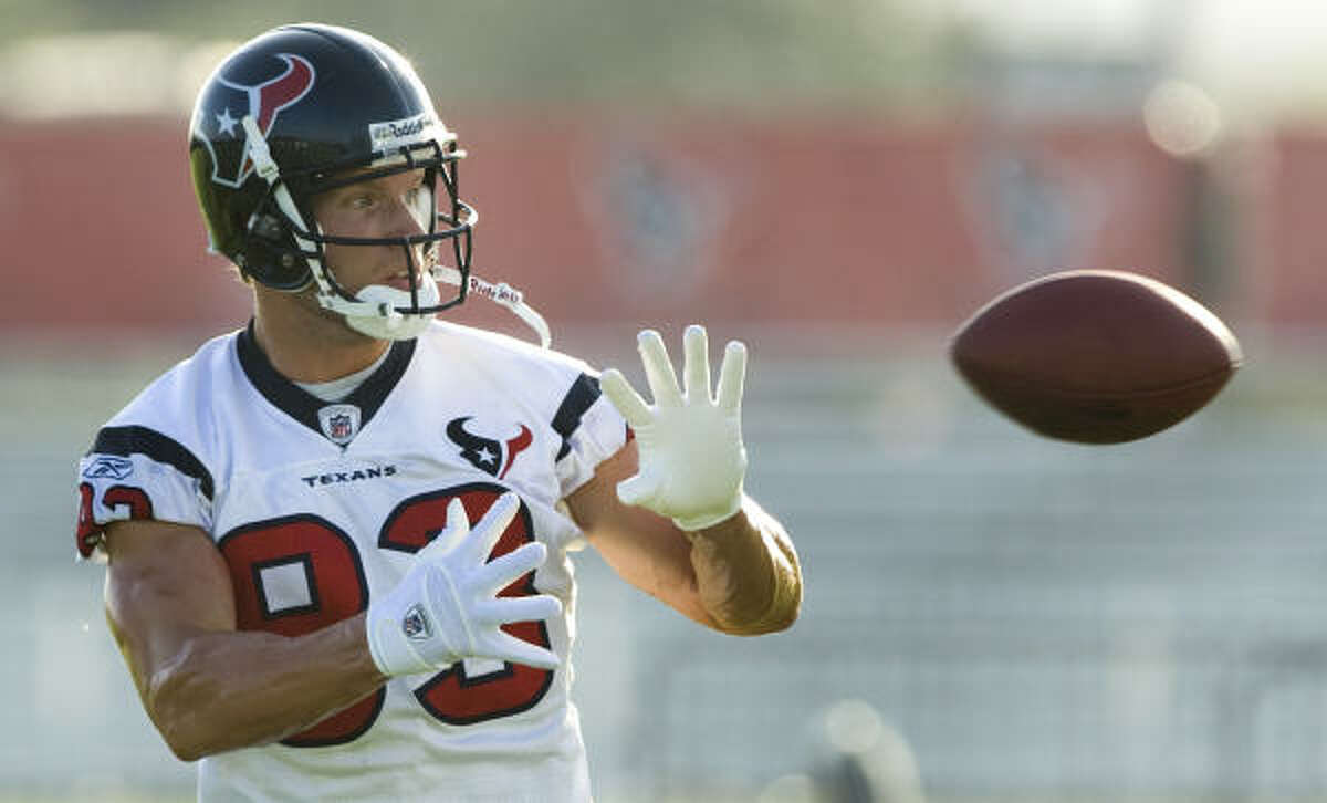 Texans No. 2 wide receiver Kevin Walter had a career-best 899 yards last season. Walter is entering the final year of his contract and another strong performance could mean a big payday next offseason.