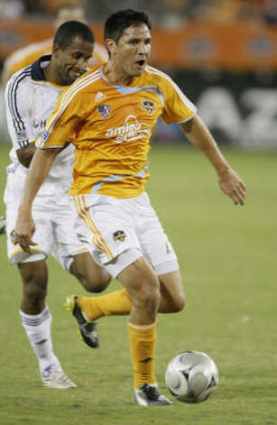 Forward, Brian Ching The Dynamo forward will problably start for the national team against Mexico in a crowded Azteca Stadium on Wednesday afternoon. Photo: Melissa Phillip, Houston Chronicle