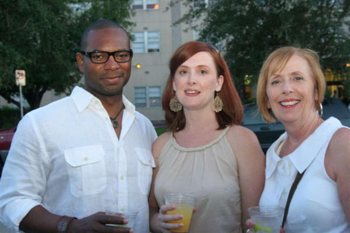 Bruce Ealy, from left, Megan Ward and Mary Johnson