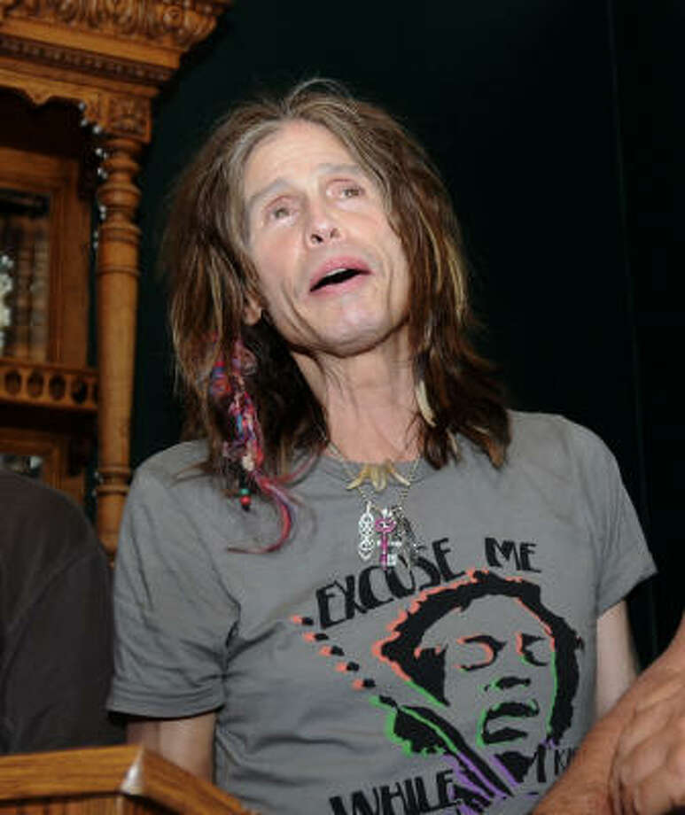 Aerosmith frontman Steven Tyler, 61, was airlifted to a hospital after falling from the stage during a concert at the Sturgis Motorcycle Rally in western South Dakota. He suffered minor injuries. Here are other famous people who have taken the plunge. Photo: Steve McEnroe, AP