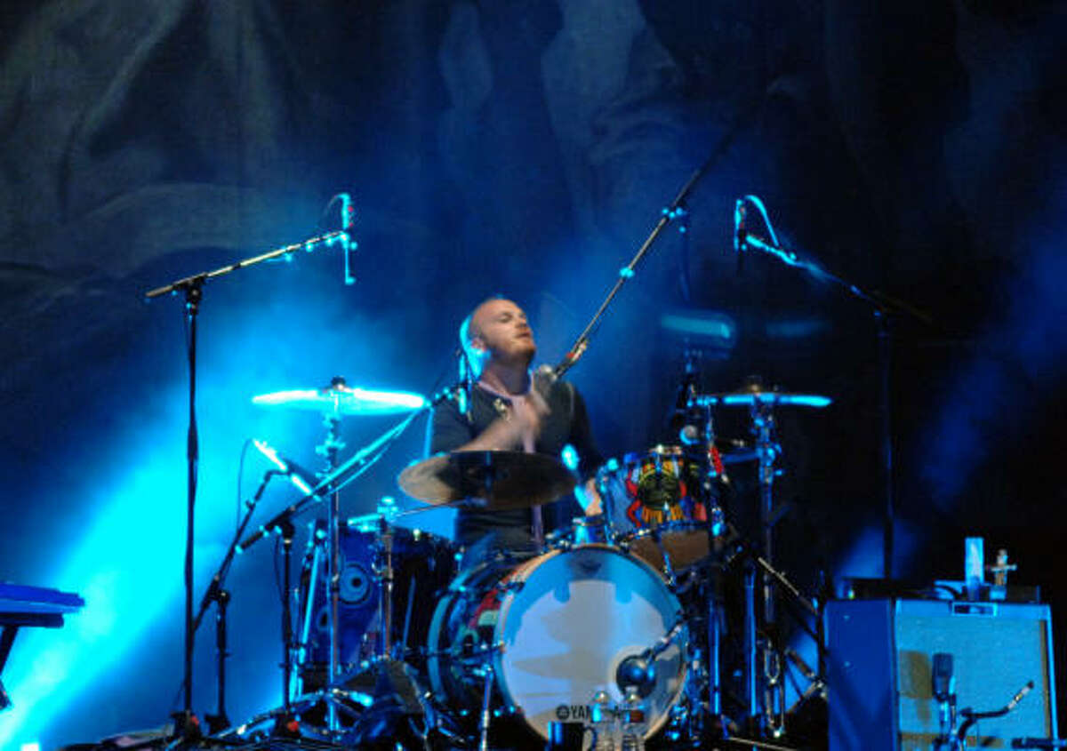 Coldplay's Will Champion on drums.