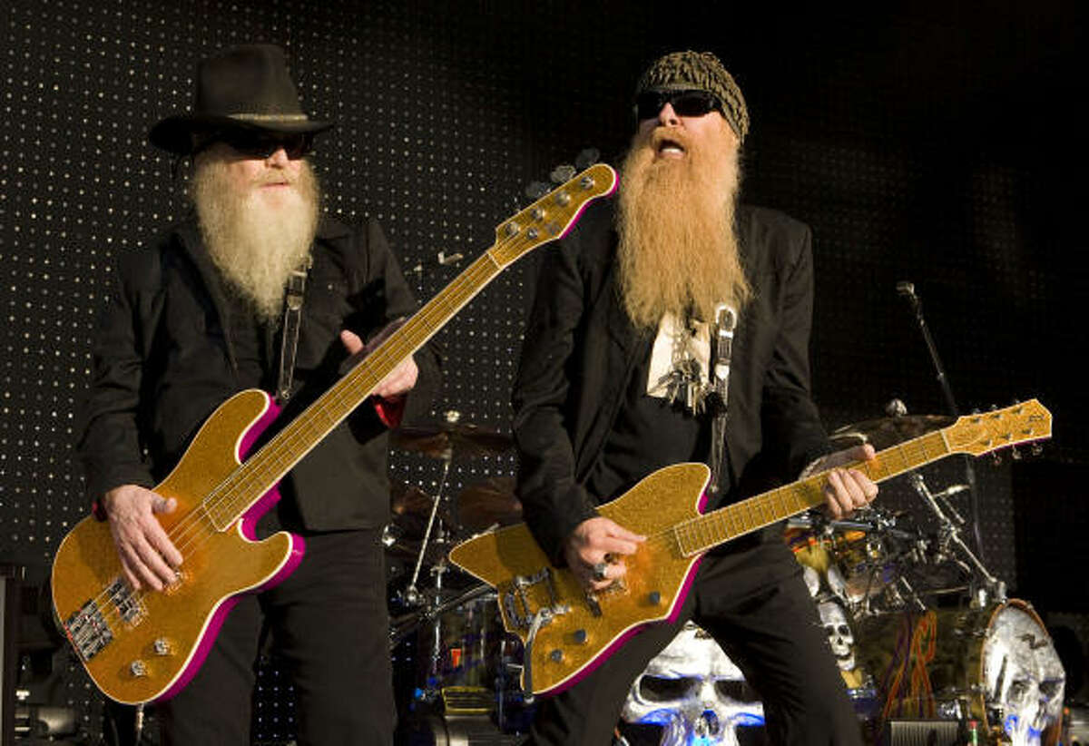 ZZ Top's Dusty Hill, left, and Billy F. Gibbons perform.