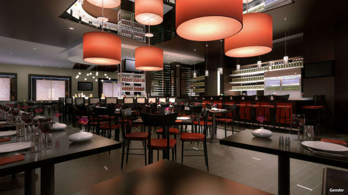 Check out the new interior of Valentino Vin Bar, a new restaurant in the Hotel Derek opening in the fall. Read more about the restaurants here.