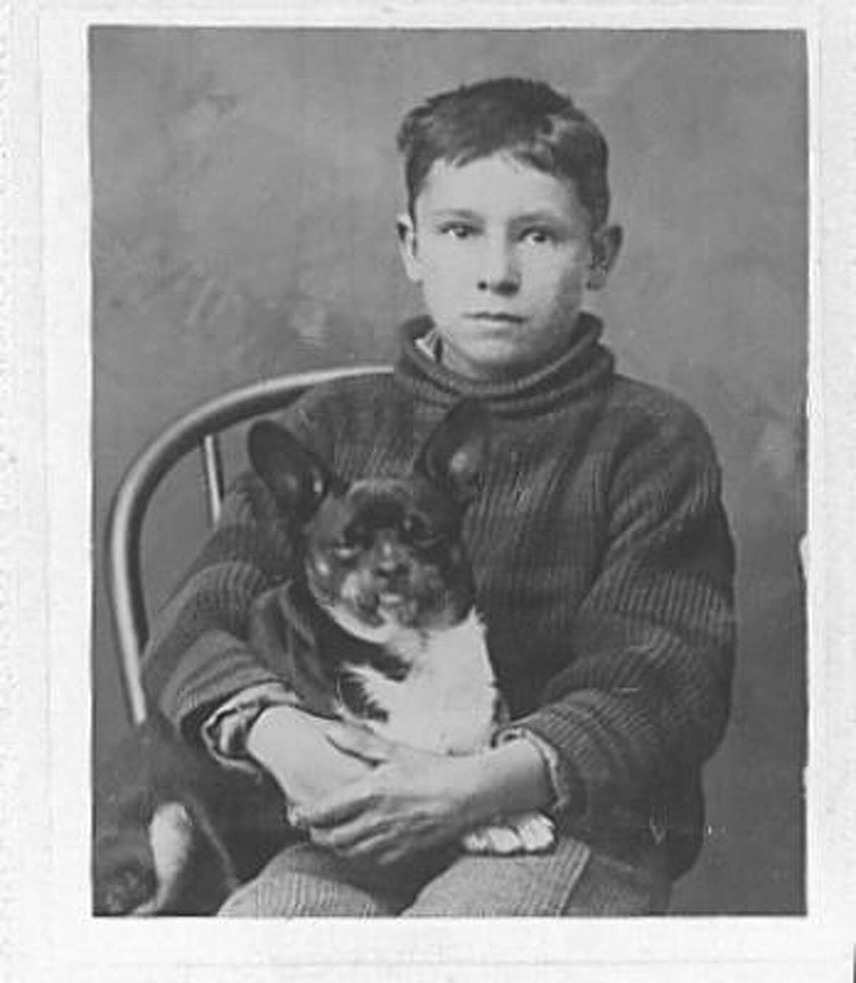 The dog's name is Dan. Circa 1895. Upload your photos of any era here.