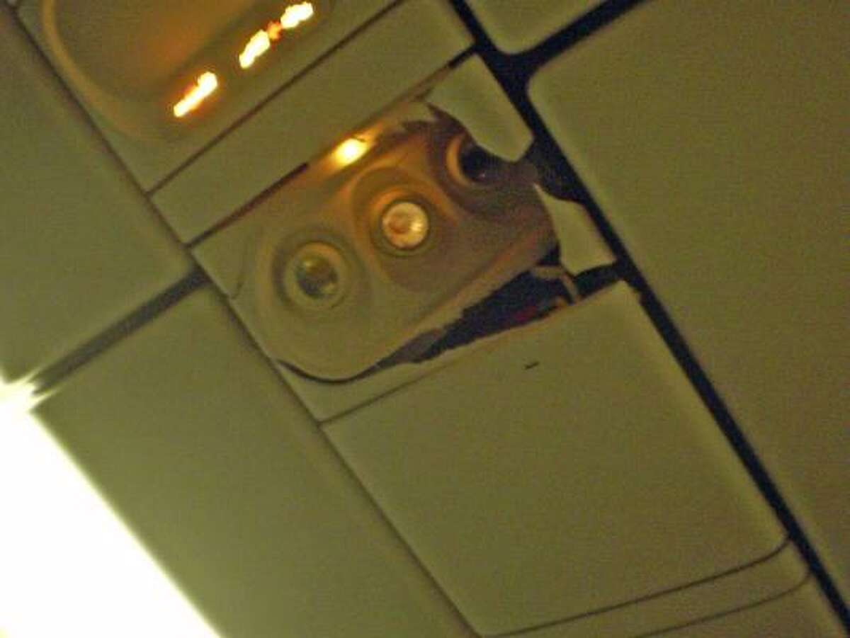 More damage inside the jet. The Boeing 767-200 had 168 passengers and 11 crew members.