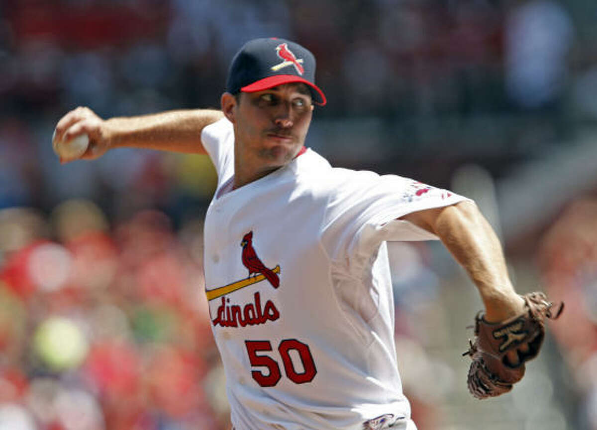 Aug. 2: Astros 2, Cardinals 0 Cardinals starter Adam Wainwright gave up two runs on eight hits in seven innings of work against the Astros.