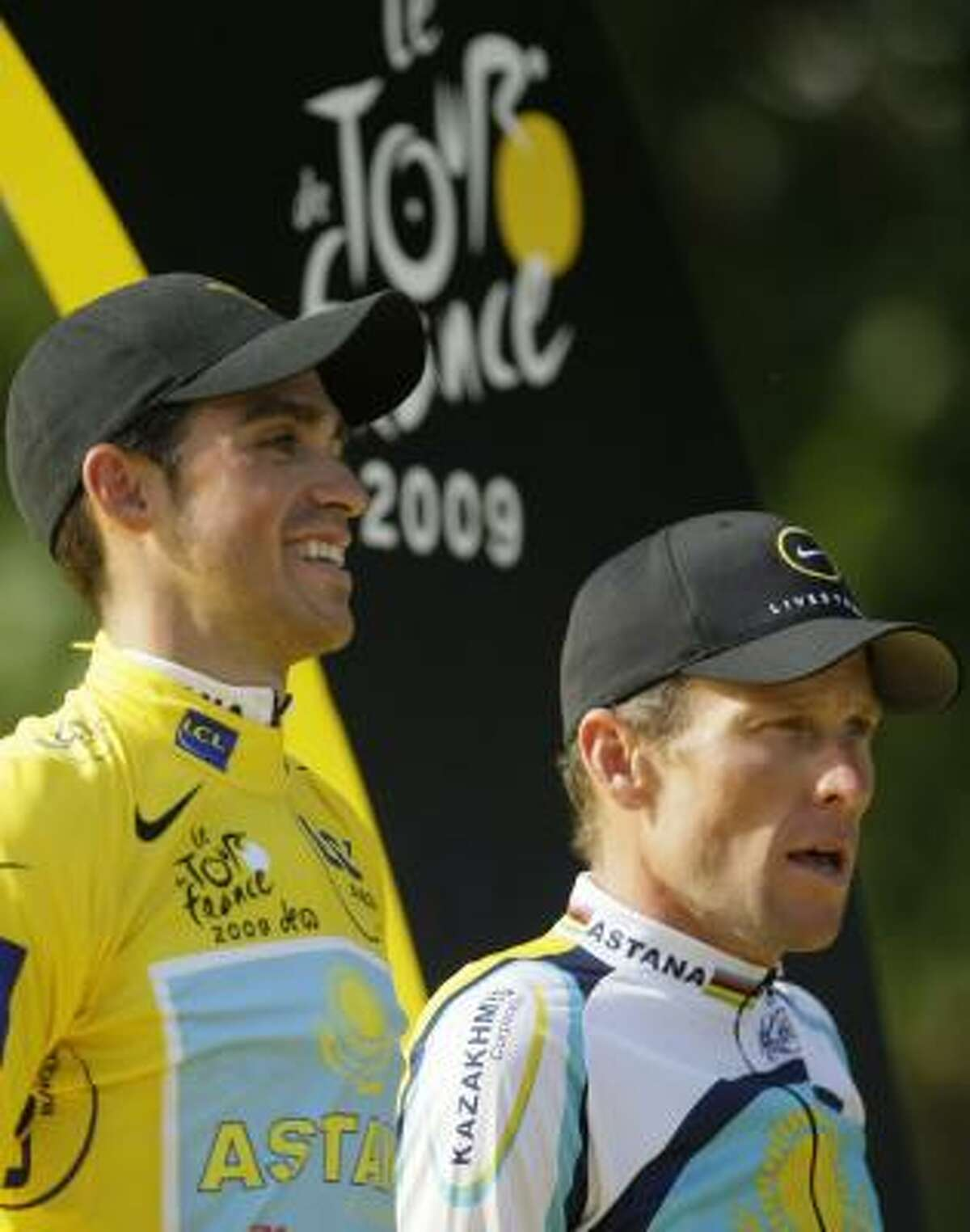 Perhaps a round of beers could bring Tour de France winner Alberto Contador of Spain and third-placed, seven-time Tour de France winner Lance Armstrong to speaking terms.