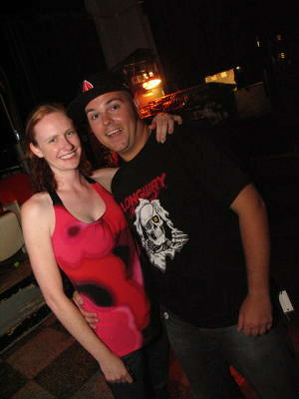 Julie Wood, left, and Nick Davis