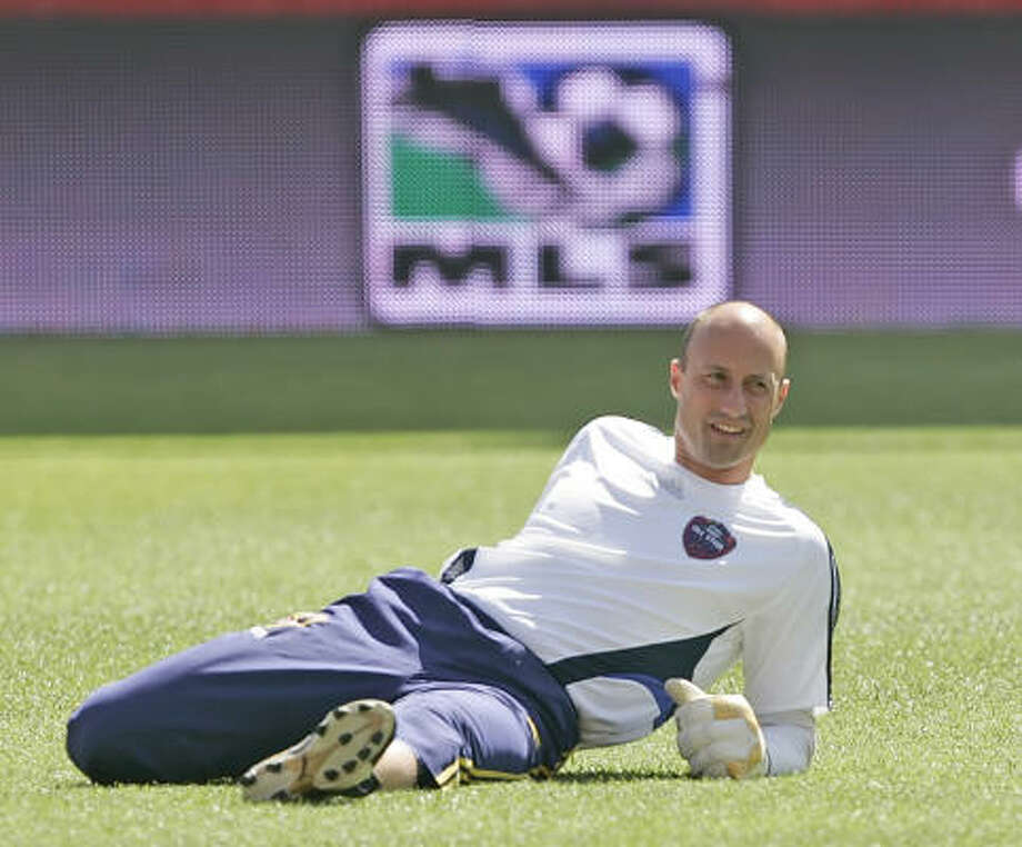 "2009 All-Star game ""Starting XI""Goalie Kasey Keller has 46 saves while averaging under one goal allowed per game for the Seattle Sounders FC this season. Photo: George Frey, AP"