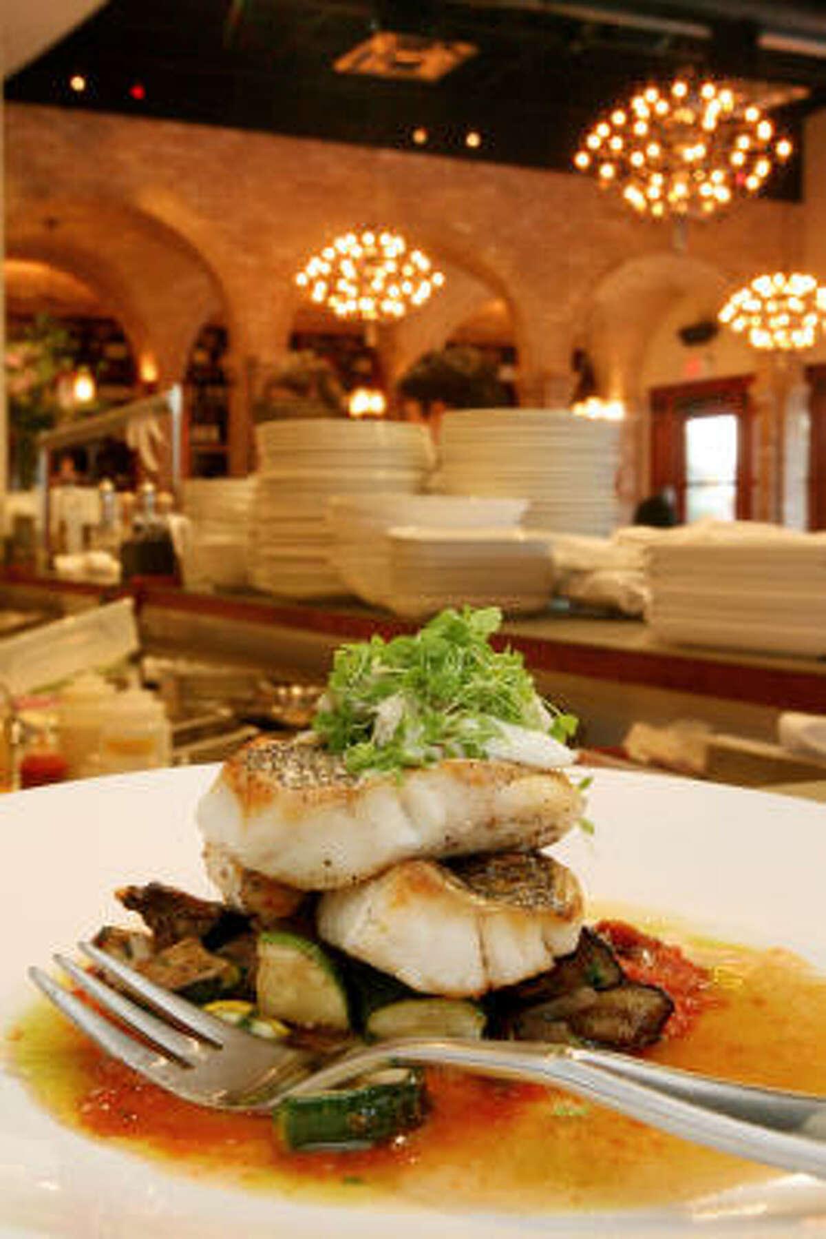 The chef here serves modern Texas Gulf Coast fare seen through a Spanish-tinted lens.