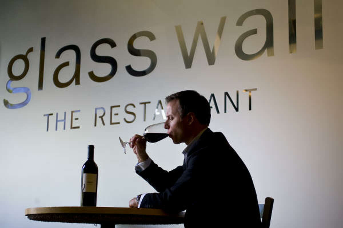 Treat yourself: Try Glass Wall restaurant, 933 Studewood. Here's a shot of Shepard Ross, co-owner and