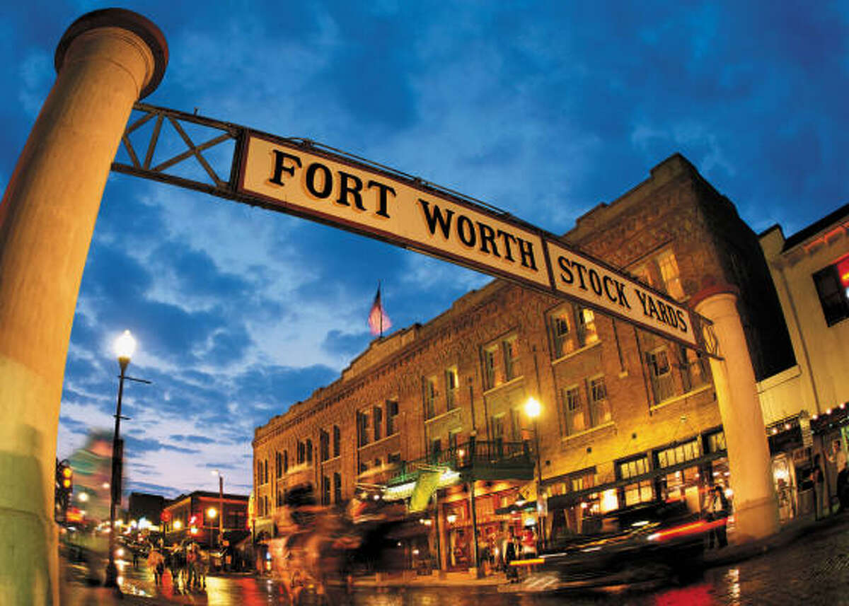 The Fort Worth Stockyards transport visitors to the Old West.
