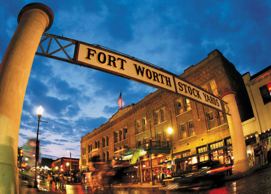 The Fort Worth Stockyards transport visitors to the Old West. Photo: Fort Worth Convention & Visitors Bureau