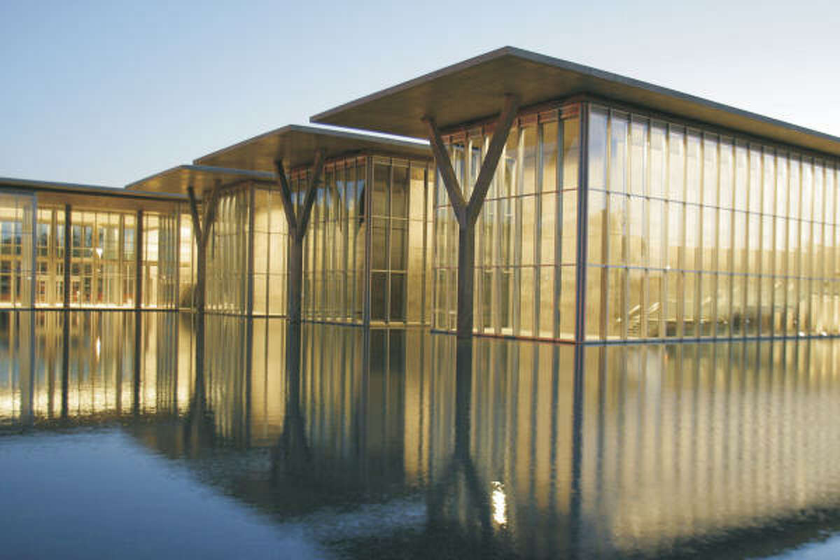 The Modern Art Museum of Fort Worth's building was designed by the Japanese architect Tadao Ando.