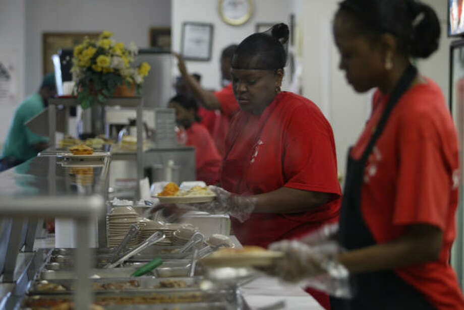 Family Cafe, 2712 Blodgett, has one of the biggest soul food buffets in town, and you're sure to find some ox tails. Know of a restaurant that serves the best ox tails in town? Let us know or vote in our Ultimate poll here. Photo: Buster Dean, Houston Chronicle