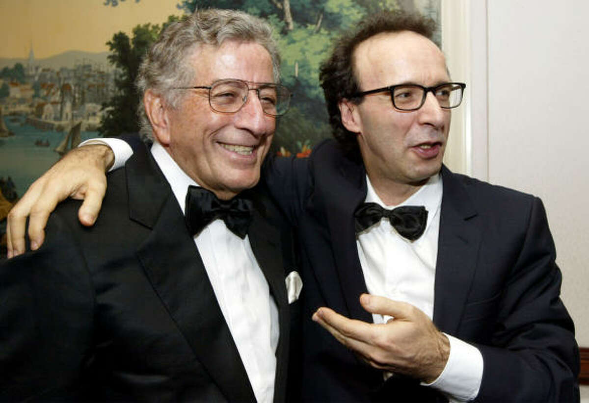 Tony Bennett, left, staaged a comeback in the late '80s and '90s and even expanded his audience to the MTV generation.