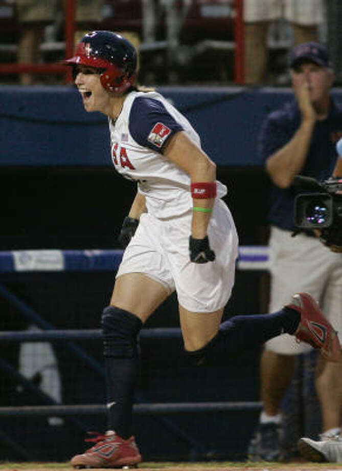 Lauren Lappin: The American softball player won a silver medal in the 2008 Summer Olympics. Photo: AP