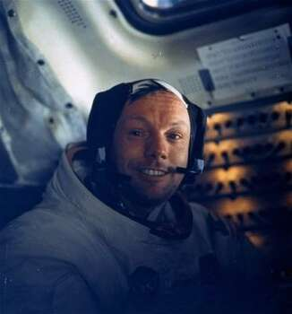 In this July 20, 1969 file photo,  Astronaut Neil A. Armstrong, Apollo 11 commander, is seen inside the Lunar Module while the LM rested on the lunar surface.  Astronauts Armstrong and Edwin E. Aldrin Jr., lunar module Pilot, had already completed their extravehicular activity when this picture was made. Photo: Anonymous, AP