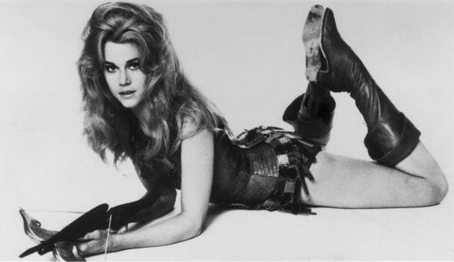Jane Fonda stared as an astronaut in the 1968 space satire Barbarella.  Read more about how the moon has inspired pop culture here. Photo: Cinemax