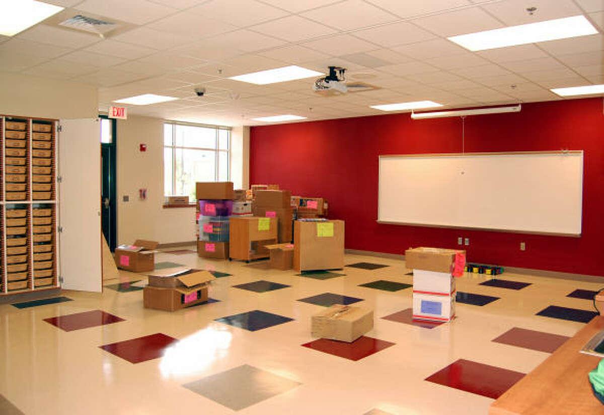 Teachers haven't yet set up their classrooms at Mossman.