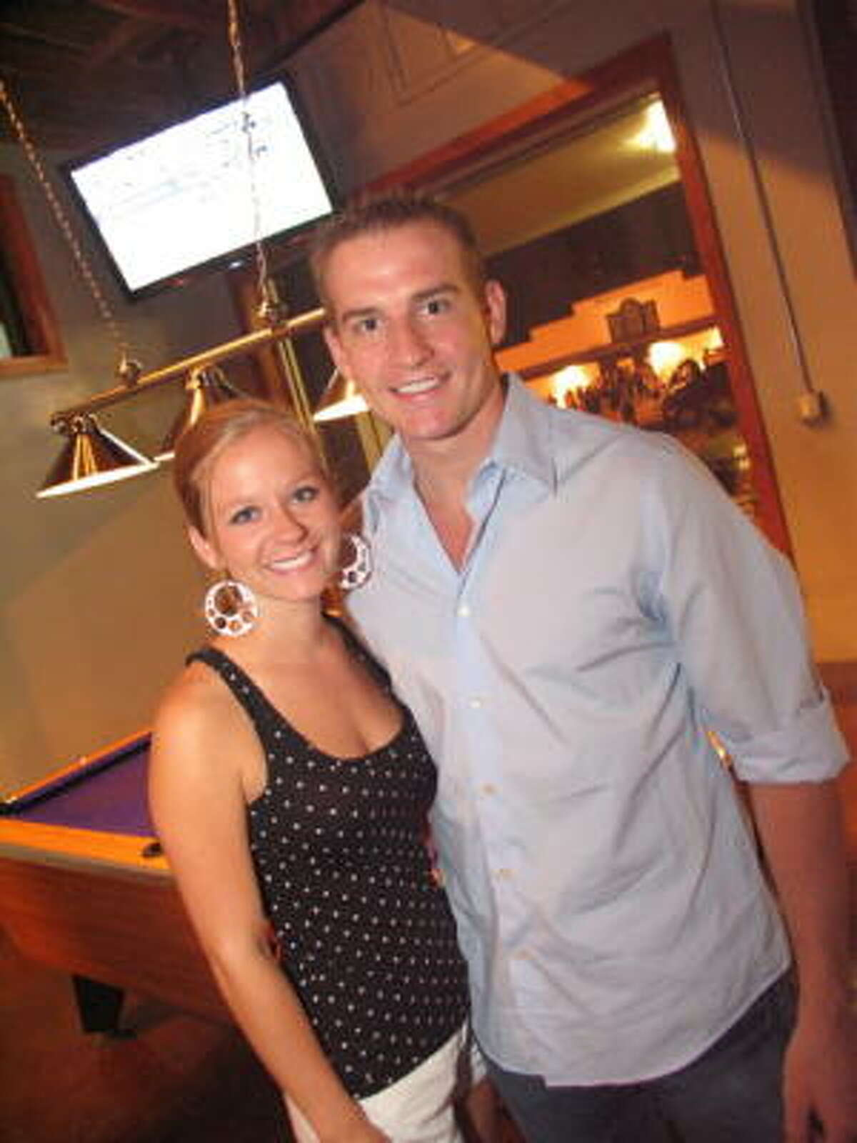 Kristin Tipton, left, and Chris Landry