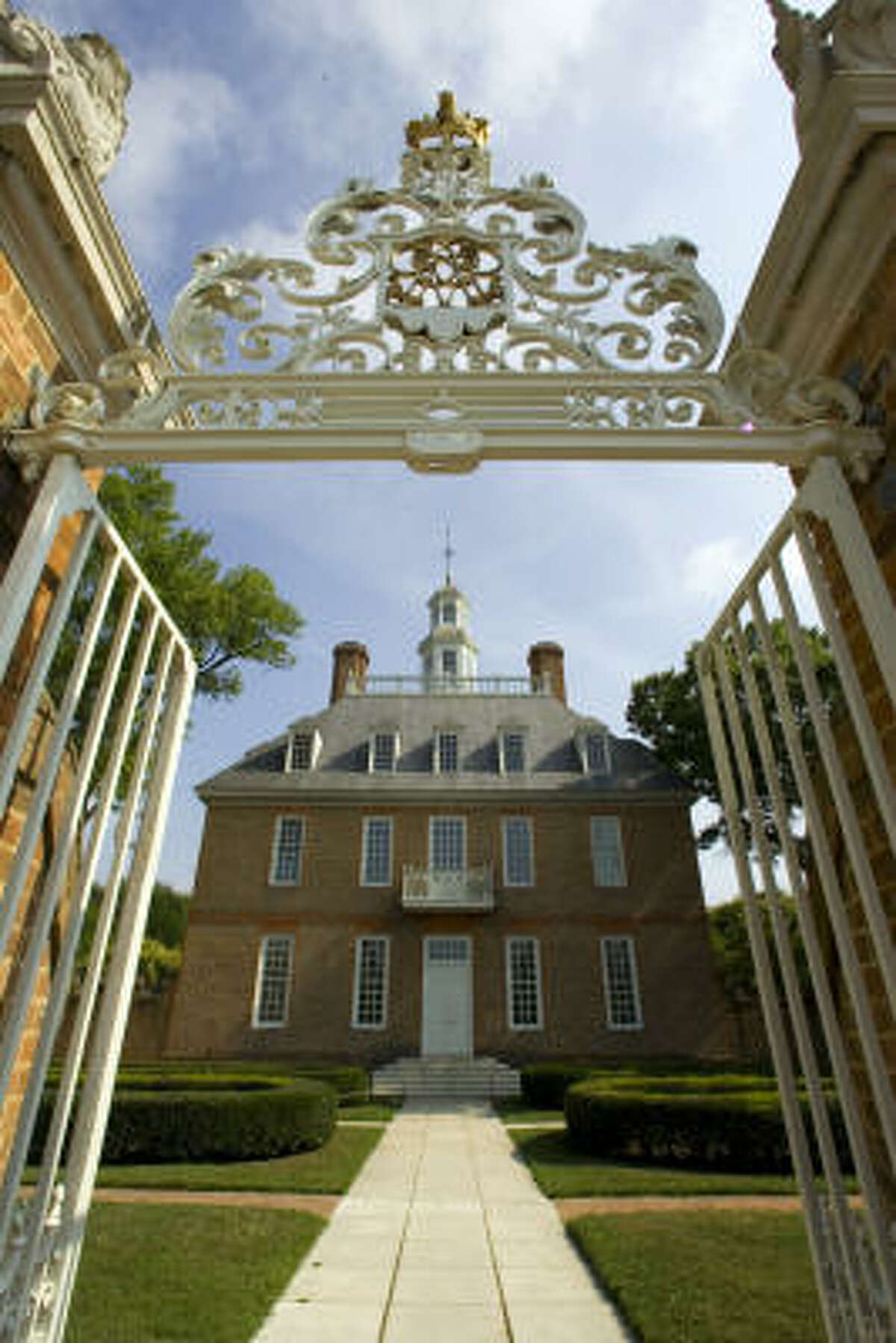 A garden tour begins at the Governor's Palace in Colonial Williamsburg.