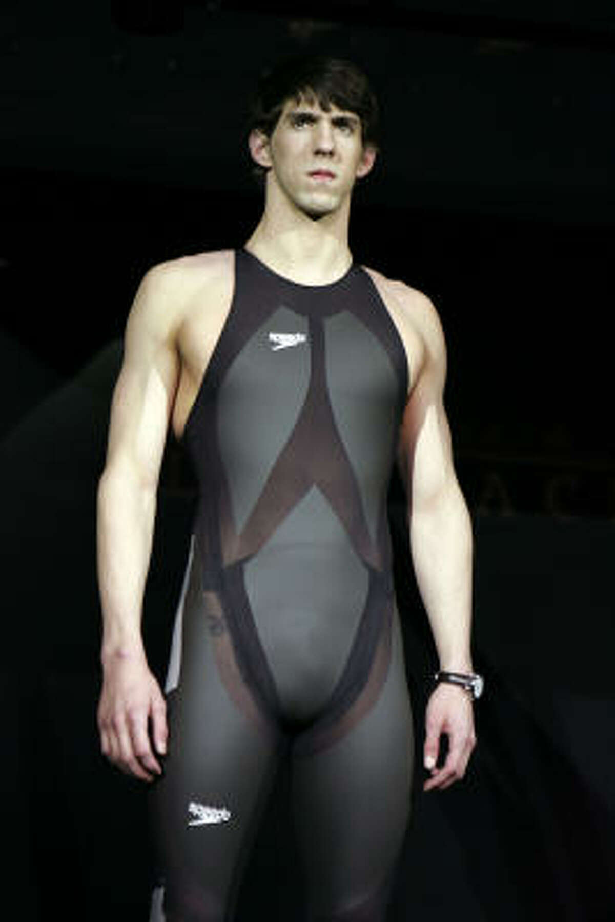 Michael Phelps' swimsuit  Space exploration and swimming have some similarities, such as reducing drag. A NASA expert on the subject helped design a state-of-the-art swimsuit for the Olympian.